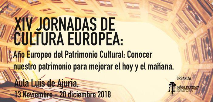 XIV Jornadas de Cultura Europea. Noviembre – diciembre 2018