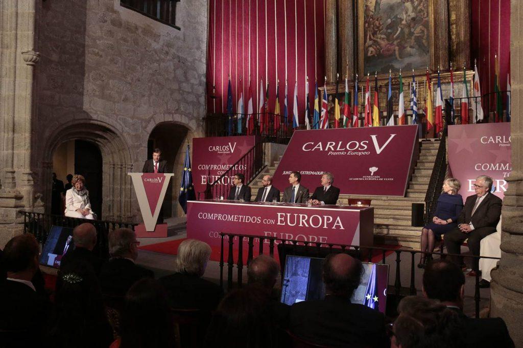 Ceremonia de la entrega del Premio Carlos V 2016