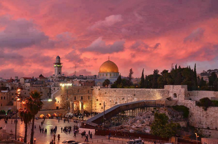 Puesta-de-sol-en-Jerusalén