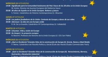 Cartel de las XI Jornadas Europeas