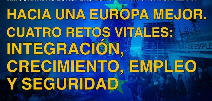 XIII Jornadas Europeas. Integración, crecimiento… 12 – 27 septiembre 2017