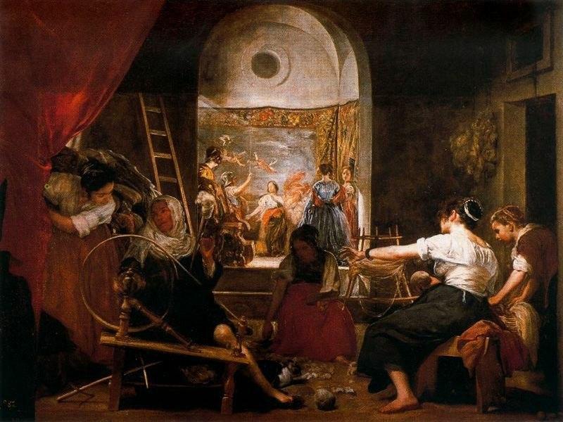 La fábula de Aracne (Las hilanderas). Diego Velázquez